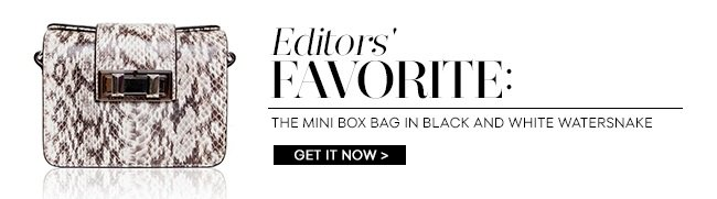 Editors' Favorite: The Mini Box Bag in Black and White Watersnake