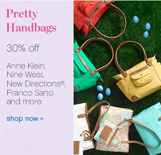 Pretty handbags 30% off. Shop now.
