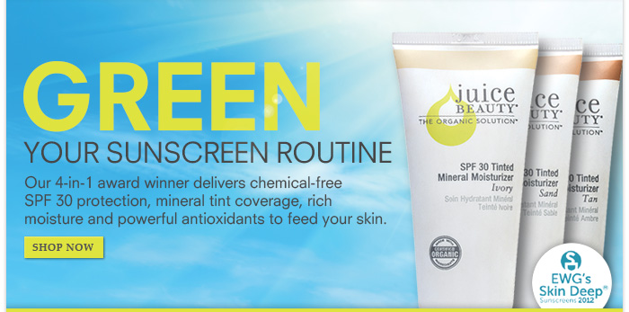 Green Your Routine with SPF 30 Protection