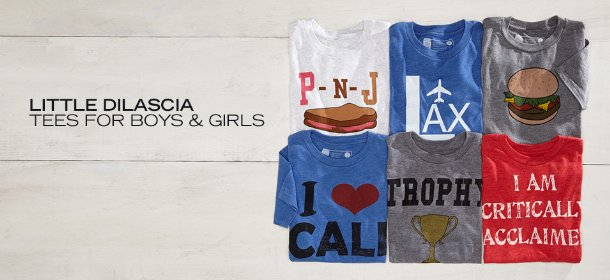 LITTLE DILASCIA TEES FOR BOYS & GIRLS, Event Ends March 30, 9:00 AM PT >