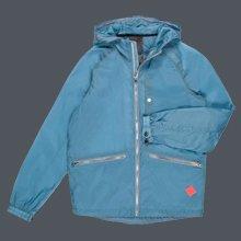 Sky Blue Water-Repellant Hooded Jacket