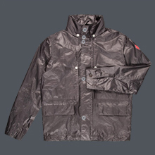 Grey Coated Metallic Jacket