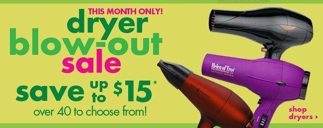 dryer blow-out sale