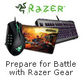 Prepare for Battle with Razer Gear.