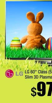 "LG 60"" Class (59.8"" Diag.) 1080P 600 Hz Slim 3D Plasma TV with Smart TV"