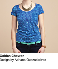 Golden Chevron - Design by Adriana Quezadarivas