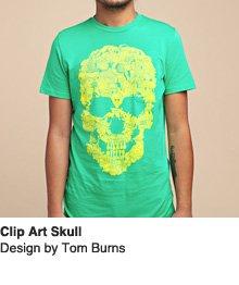Clip Art Skull - Design by Tom Burns