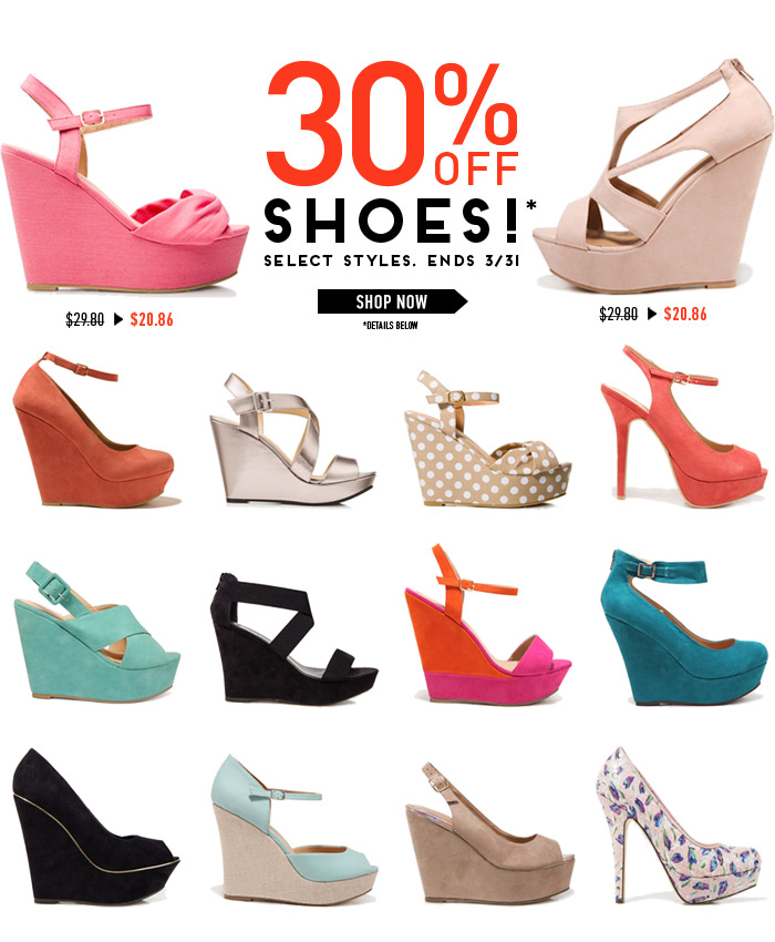 30% Off Shoes! 3 Days Only - Shop Now