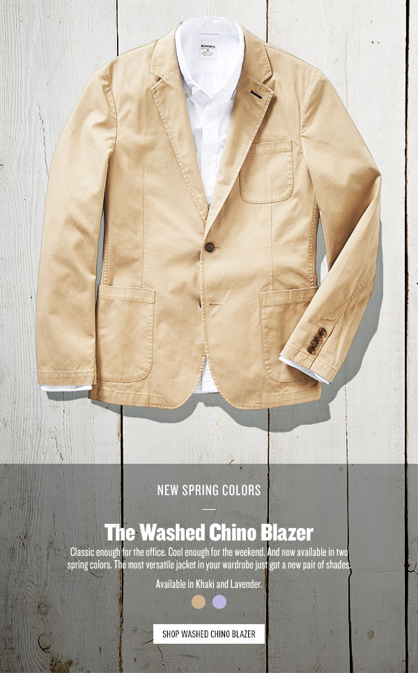 Washed Chino Blazer