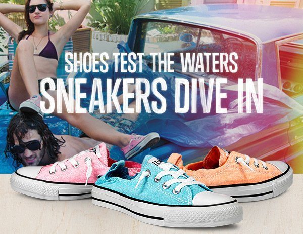 SHOES TEST THE WATERS SNEAKERS DIVE IN