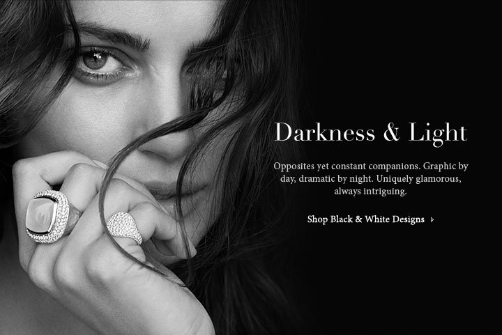 Darkness and Light. Opposites yet constant companions. Graphic by day, dramatic by night. Uniquely glamorous always intriguing. Shop Black and White Desings.
