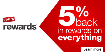 Staples  Rewards. 5% back in rewards on everything. Learn more.