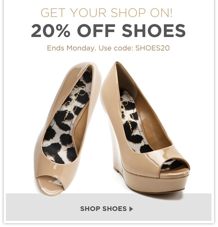 Enjoy an extra 20% OFF all shoes! Use code: SHOES20 at checkout.
