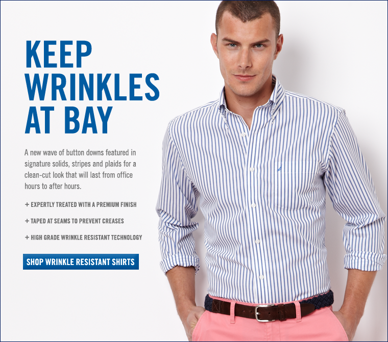 KEEP WRINKLES AT BAY. Shop wear to work shirts.
