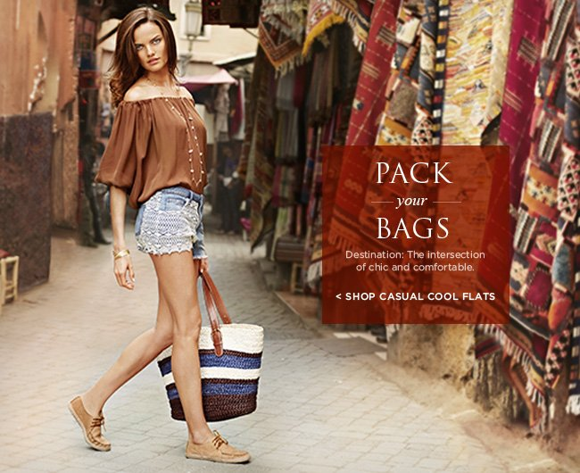 Pack your bags - Destination: The intersection of chic and comfortable - SHOP CASUAL COOL FLATS