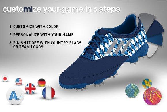 Customize the mi adizero Tour  golf shoe  »