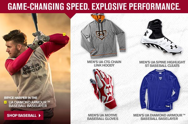 GAME-CHANGING SPEED. EXPLOSIVE PERFORMANCE. SHOP BASEBALL