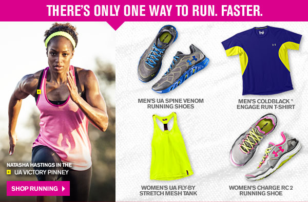 THERE'S ONLY ONE WAY TO RUN. RASTER. SHOP RUNNING