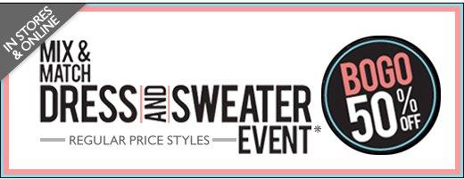 MIX & MATCH DRESS & SWEATER EVENT