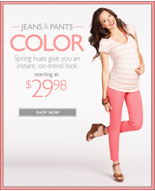 Spring Jeans & Pants