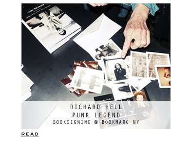 World of Marc Jacobs | Richard Hell Bookmarc NY Signing