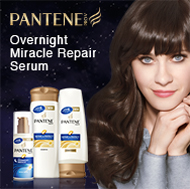 Pantene Overnight Miracle Serum. Dare to get 8 hours of repair while you sleep* without any residue on your pillow. (* repair to smoothness) Check out Pantene on YouTube