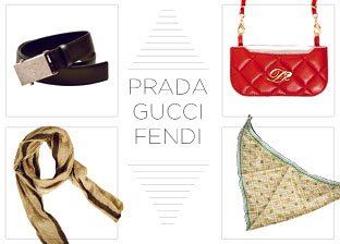 Prada, Gucci, Fendi Accessories for Him & Her
