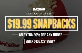 Marketplace: $19.99 Snapbacks