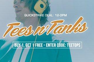 Tees & Tanks: Buy 1, Get 1 Free