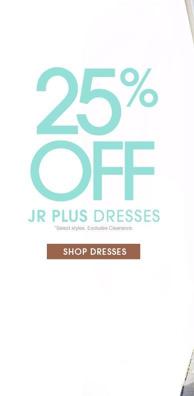 25% Off Jr Plus Dresses | Shop Now