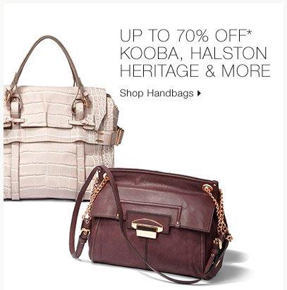 Up To 70% Off* Kooba, Halston Heritage & More