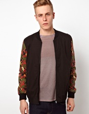 ASOS Bomber Jacket with Contrast Sleeves