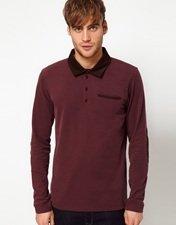 Selected Long Sleeve Polo Shirt