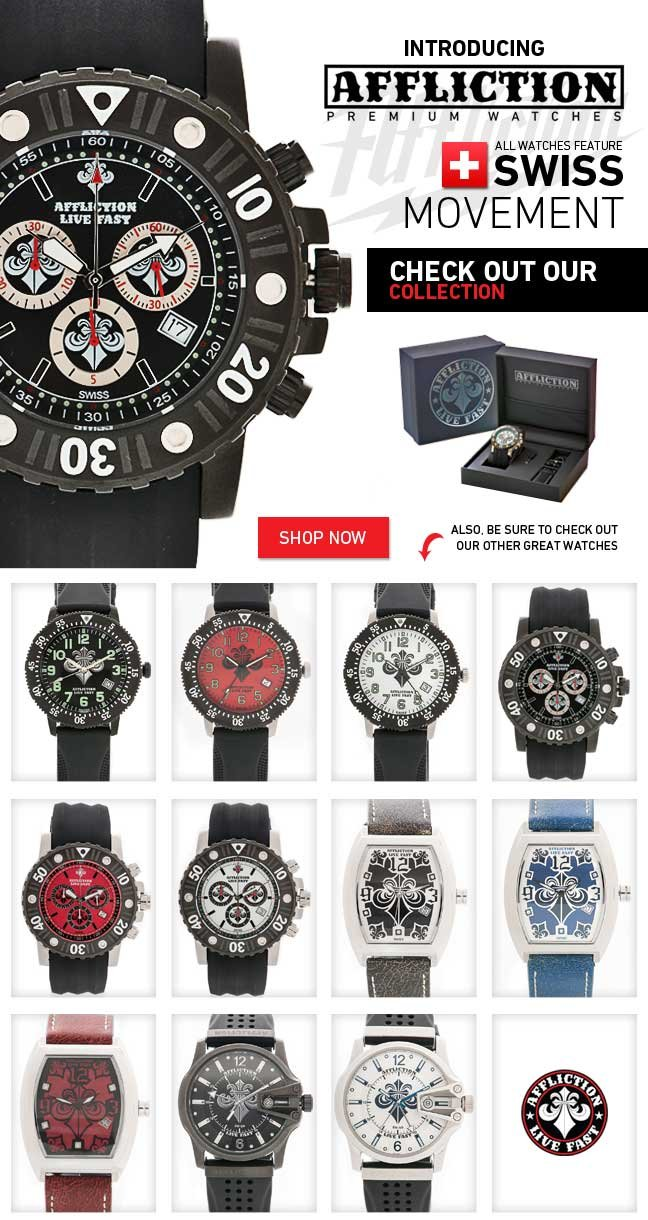 LIVE FAST with All New Affliction Swiss Watches