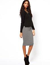 ASOS Pencil Skirt in Stripe
