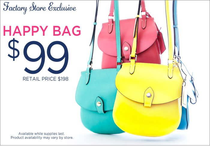Factory Store Exclusive - Happy Bag $99