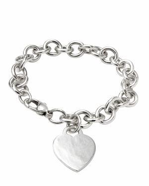 Tiffany & Co. Sterling Silver Heart Tag Bracelet $199