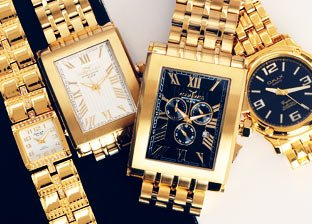 Gold Tone Watches by Rotary, Roven Dino, Steinhausen & more