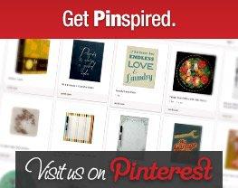 Get Pinspired. Visit us on Pinterest