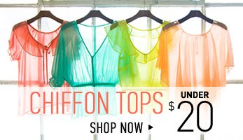 Chiffon Tops Under $20 - Shop Now