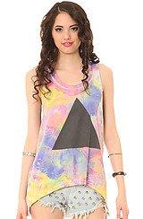 The Tie Dye Pyramid Tank