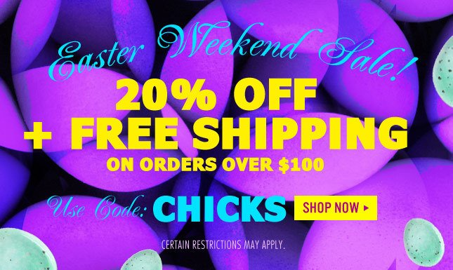 Use Code: CHICKS for the Miss KL Easter Weekend Sale