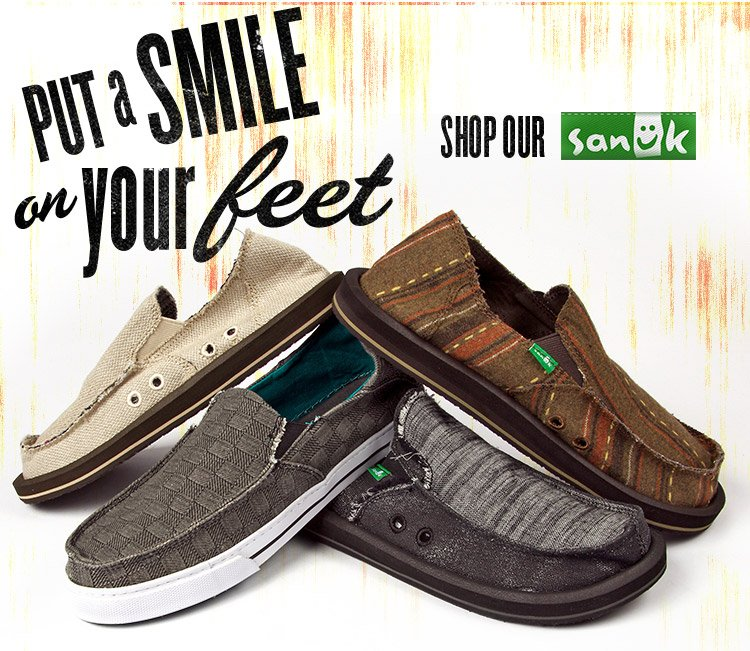 Put a Smile on Your Feet with Sanuk!
