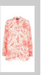 Oversize Toile Print Shirt