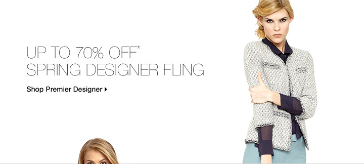 Up To 70% Off* Spring Designer Fling