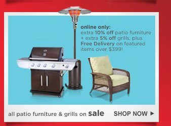 all patio furniture & grills on sale | SHOP NOW