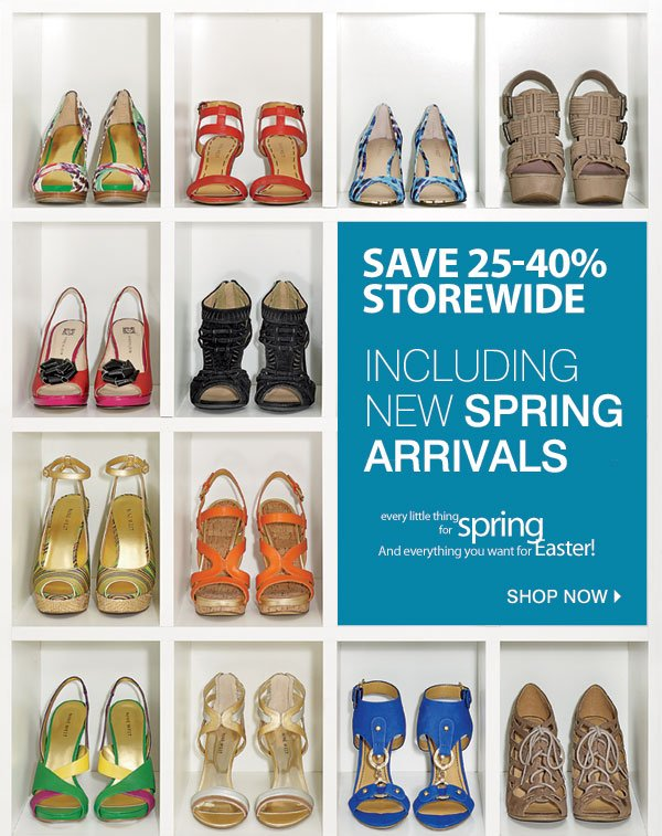 SAVE 25-40% STOREWIDE INCLUDING NEW SPRING ARRIVALS Every little thing for spring and everything you want for Easter! Shop now