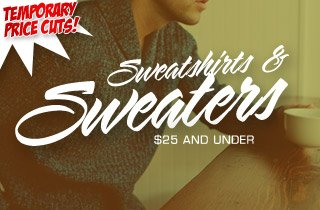 Price Cut: Sweatshirts & Sweaters