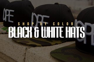 Shop By Color: Black & White Hats