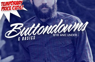 Price Cut: Buttondowns & Basics